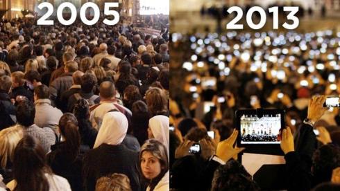 Évolution technologie foule