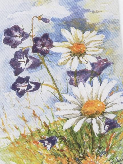 fleur peinture bouche