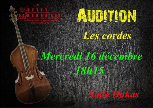 Audition classes cordes