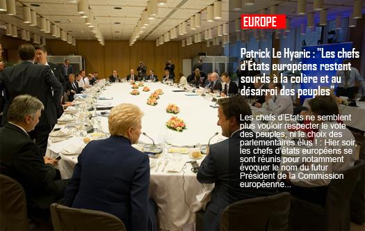 """Patrick Le Hyaric : """"Les chefs d'États européens restent sourds à la colère et au désarroi des peuples"""""""