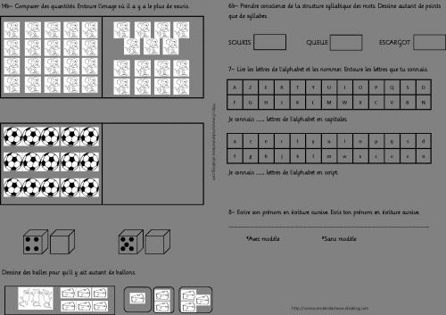 Evals de début CP - v1 et v2