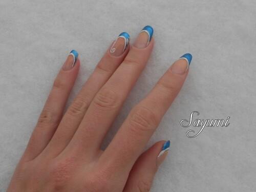 Nail Art French décorée