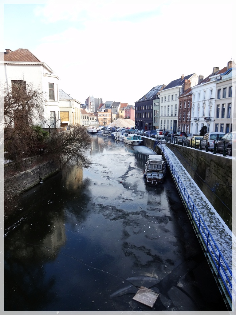 Canaux gelés à Gand...