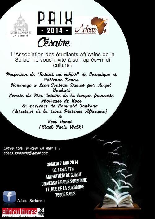 """Le 7 juin 2014 à la Sorbonne : """"RETOUR AU CAHIER""""  et HOMMAGE À LÉON GONTRAS-DAMAS"""