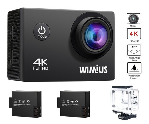 WiMiUS Q1 Caméra Sport 4k Full HD