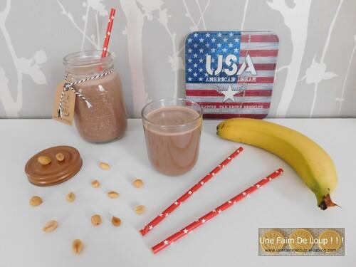Milk-shake beurre de cacahuète choco-banane
