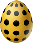 Yellow Dotted Easter Egg PNG Clipart