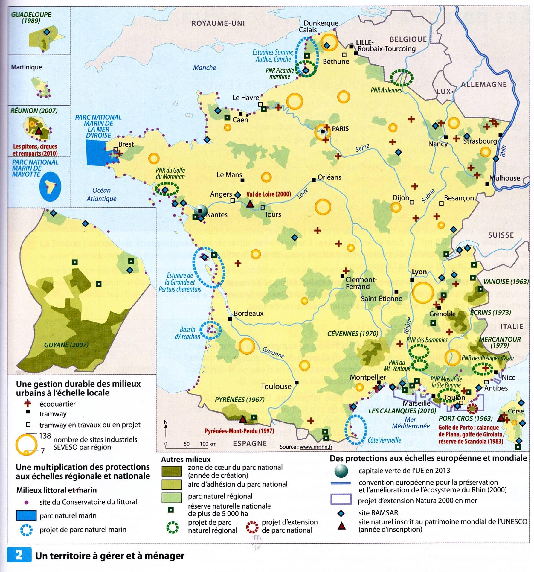 Potentialités et contraintes du territoire français controle