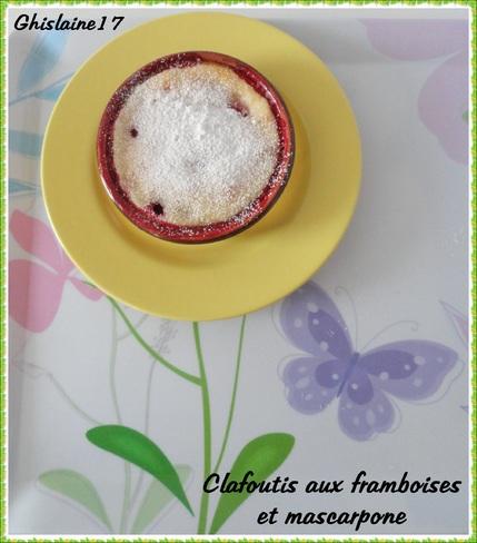 Clafoutis aux framboises et mascarpone