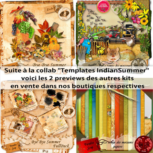 "Collab Templates ""Indian Summer"""