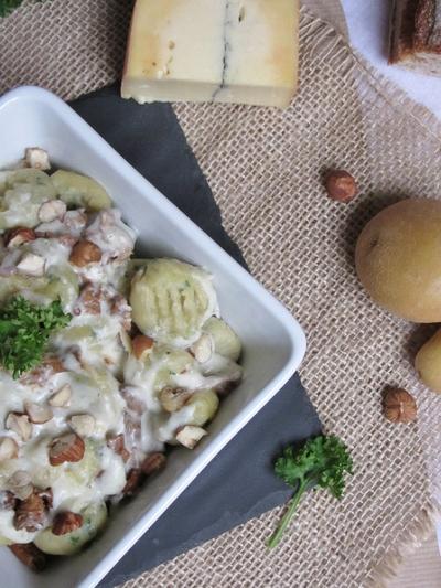 Gnocchi persillés et leur sauce au morbier et aux girolles
