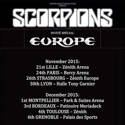 SCORPIONS/EUROPE : Live in France