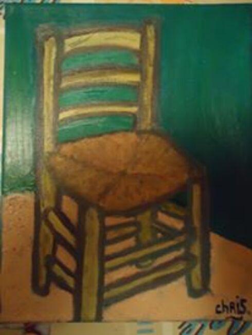 """La chaise de """" VAN GOGH"""" / peinture à l'huile!"""