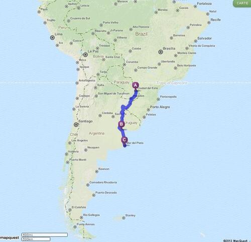 27.02.2013 - Puerto Iguazú > Mar del Plata
