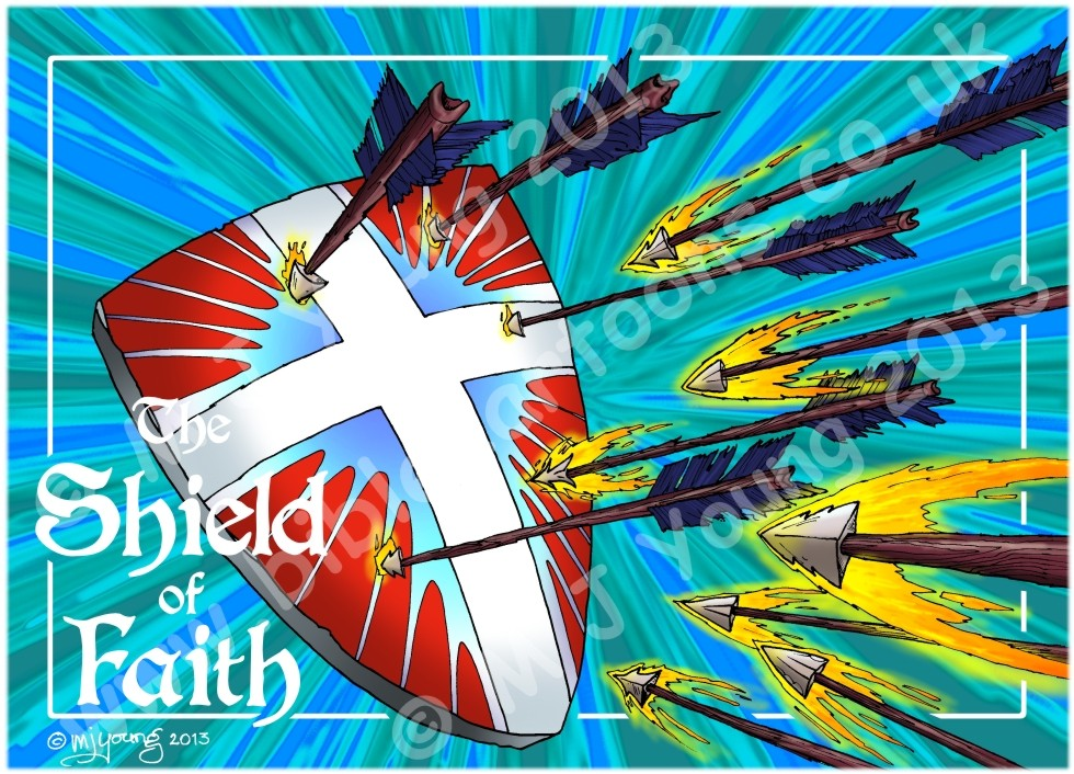 Ephesians 06 - Armour of God  - Shield (Blue)