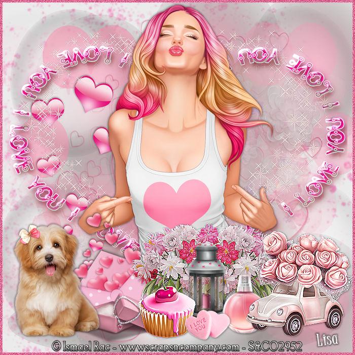 """Ma réalisation du tuto """"Love kisses"""""""