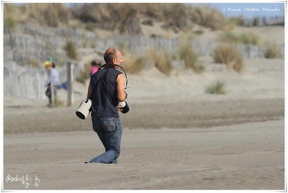 Sur la plage de L'espiquette