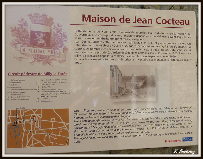Maison de Jean Cocteau à Milly la Forêt