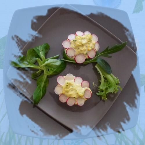 Petite entrée facile, des fleurs d'oeuf