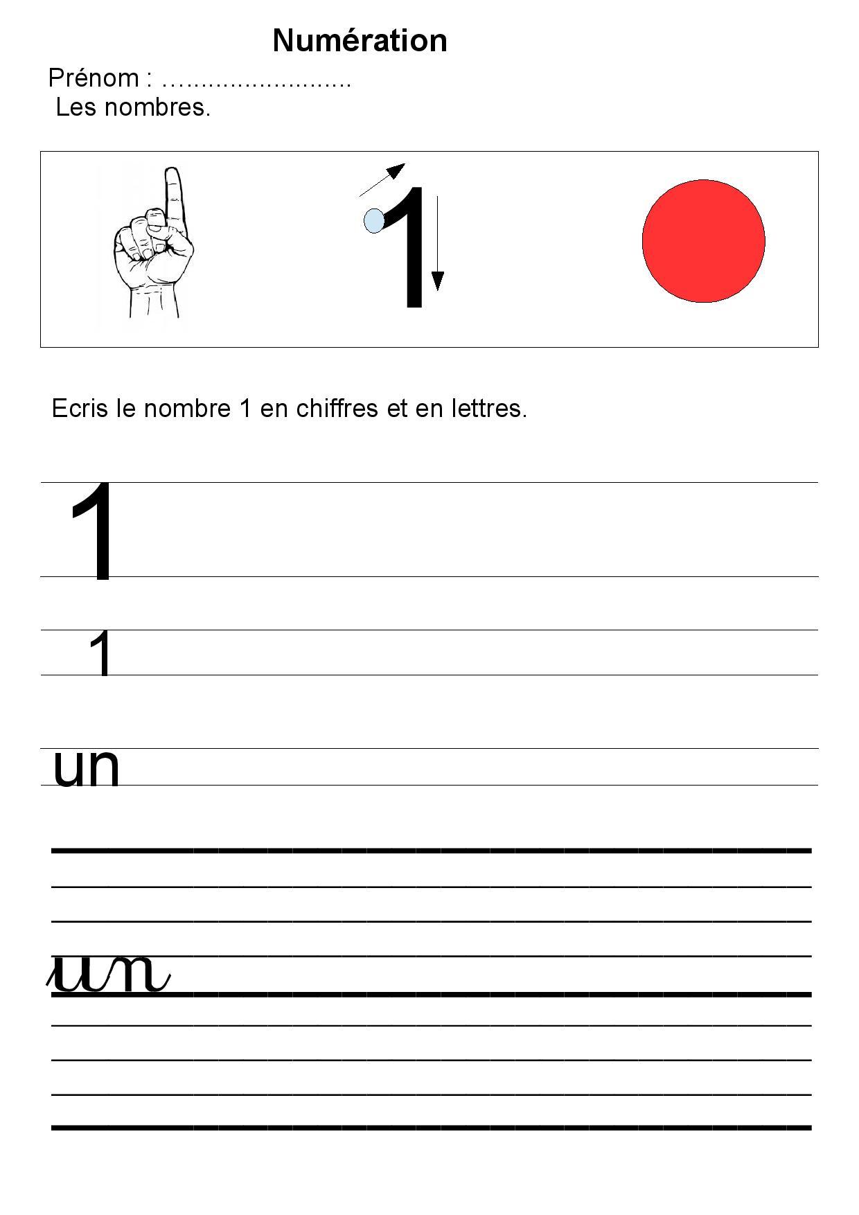 Fabuleux Maternelle écriture des nombres,GS,1,2,3,4,5,exercices UV46