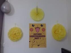 affiche anniversaire pikachu