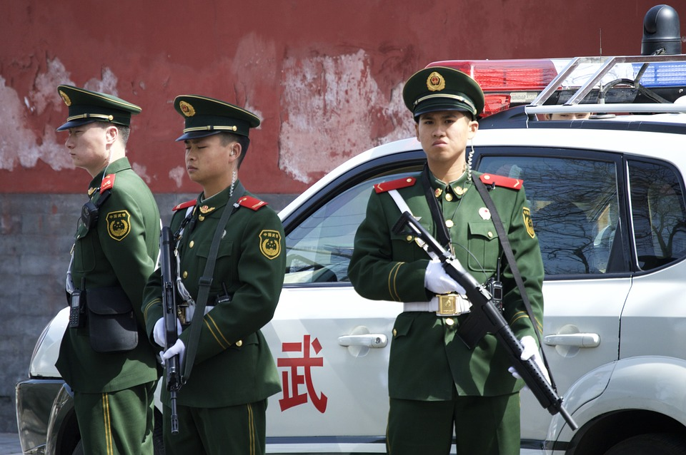 Police, Devoir, Officiel, Chine, Beijing