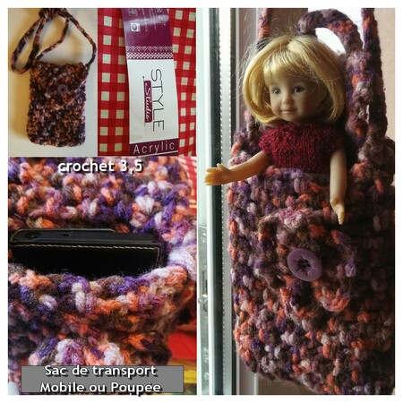 Un sac au crochet double usage