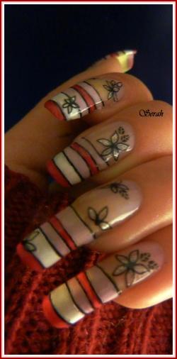 French colorée et ses petite fleurs!