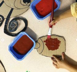 Arts : Dame coccinelle et ses oeufs