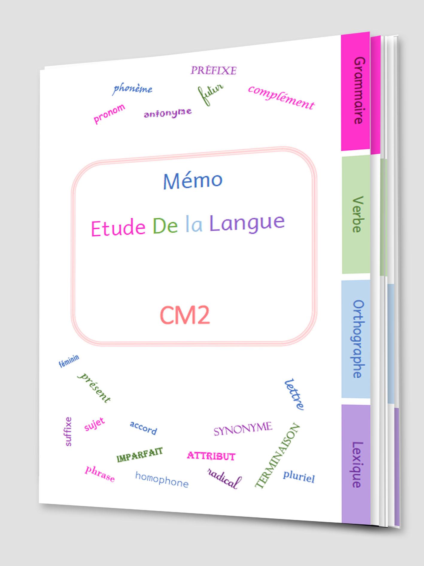 Mémo Etude De la Langue CM2 2018