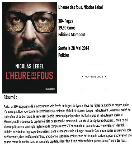 L'heure des fous, Nicolas Lebel