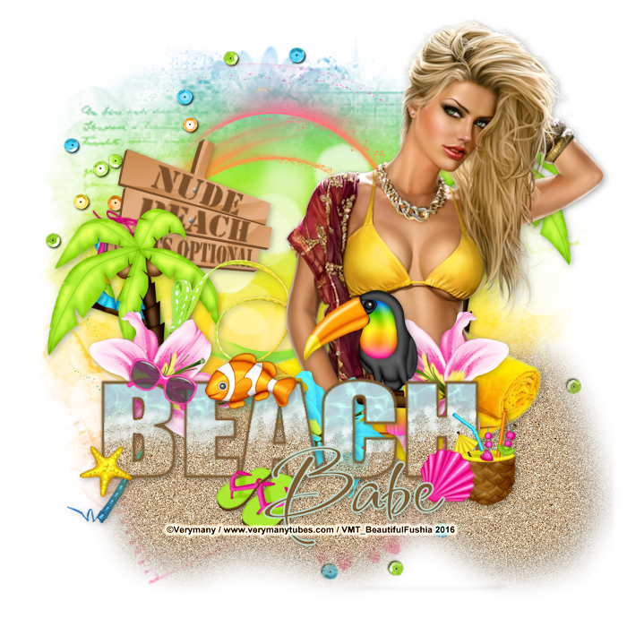Tutoriel de Delire2Scrap - Sunny Beach