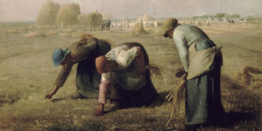 Crédit d'image: Gleaners (détail), Jean-François Millet, 1857, Musée d'Orsay, Paris, France.