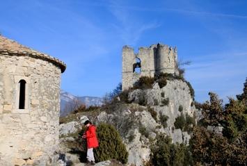 Auriples - le château de Soyans