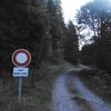 Début de la piste interdite aux véhicules non autorisés