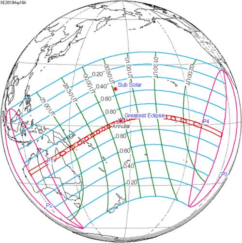 Eclipse Solaire du 10 Mai 2013