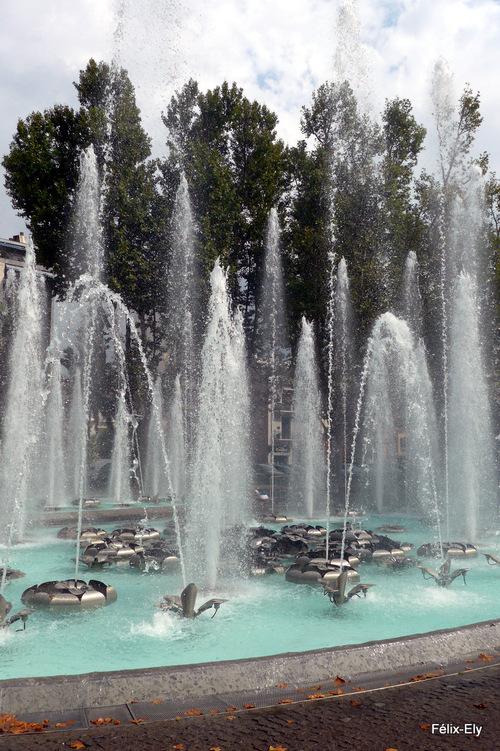 Perpignan : de beaux jets d'eau ...