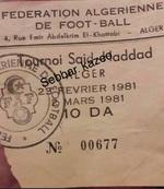 Tournoi à la mémoire de Said Haddad 1981