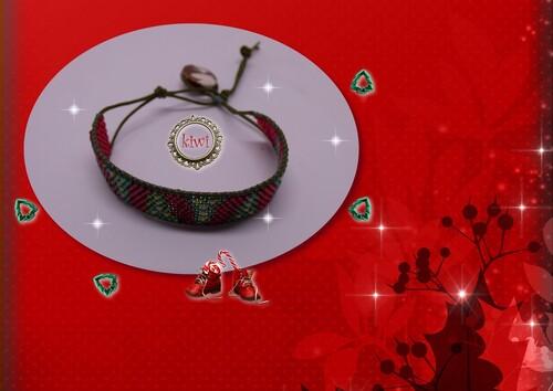 Bracelet sapins de Noël
