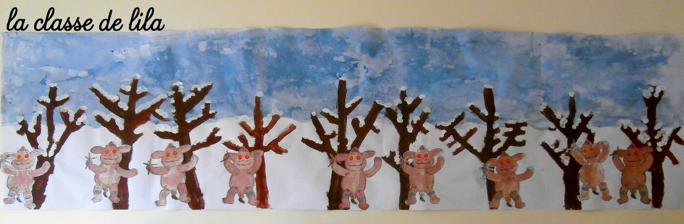 Fresque autour du gruffalo