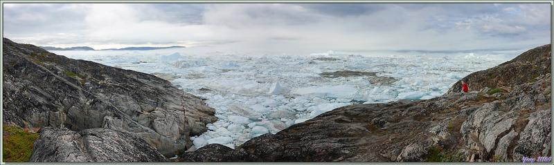 Vues panoramiques sur Isfjord (Icefjord) - Ilulissat - Baie de Disko - Groenland