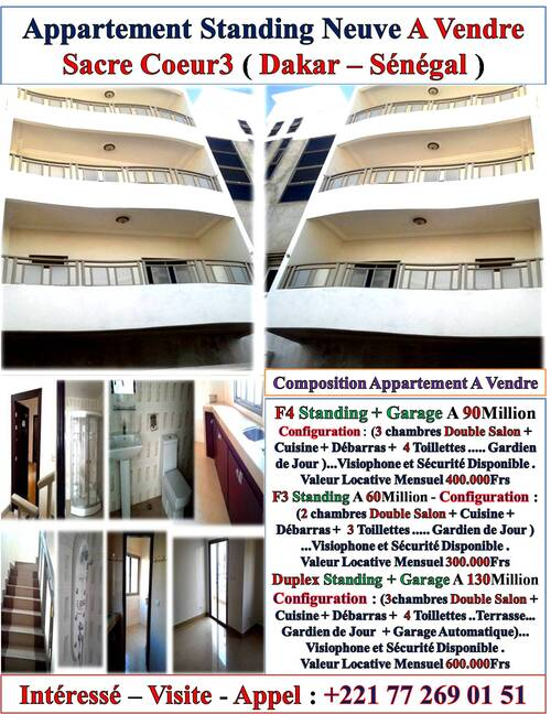 Agence Immobiliere & Promoteur Immobilier Au Senegal Tel Ou Viber:+221 77 269 01 51