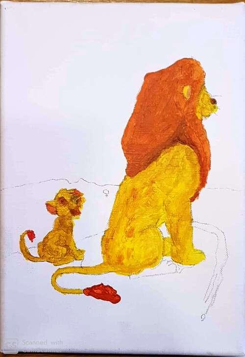 Le roi lion et Simba