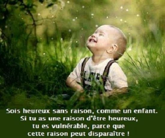 sois heureux comme un enfant