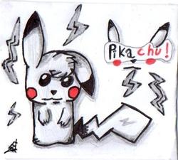 Pikachu x) (Dessin fait en cours #10)