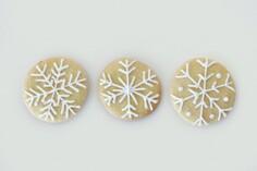 Snowflake Christmas cookies