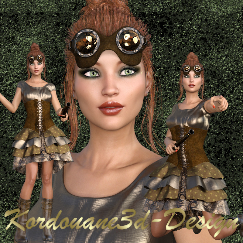 Kenzie : Femme Steampunk (image-png)