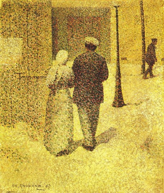 Charles Angrand, Couple dans la rue