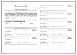 Autorisation annuelle aide personnalisée