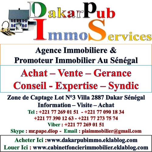Promoteur & Agence Immobiliere Au Senegal Tel Ou Viber +221 77 269 01 51